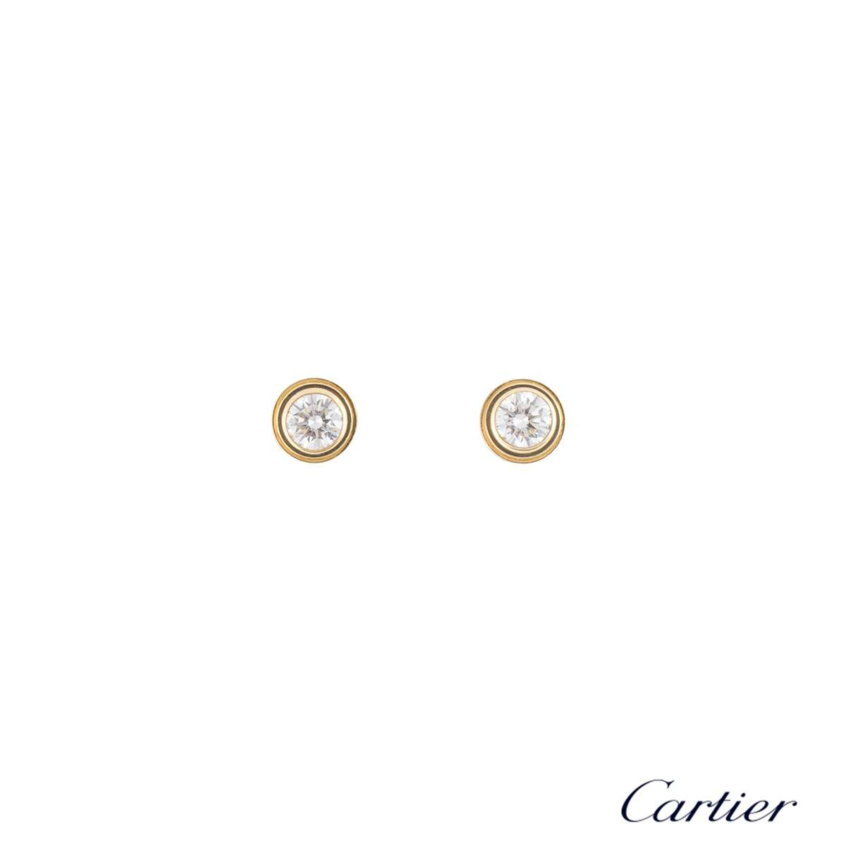 Cartier Yellow Gold Legers Diamond Earrings B8041600